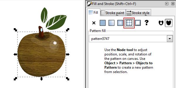 inkscape pattern fill