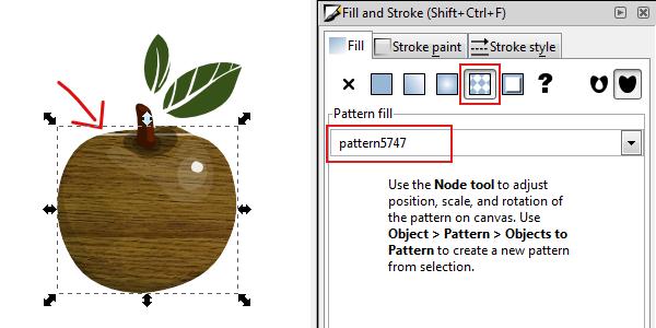 apply pattern fill