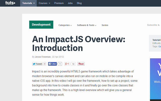 introduction tutorial impact js howto