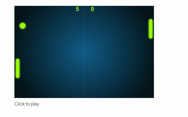 create js open source html5 pong game