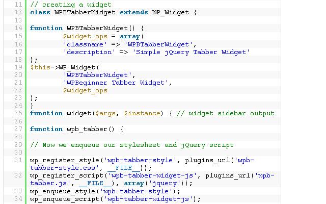 simple wordpress tabbed jquery widget