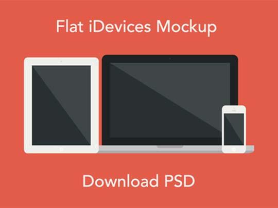 14.free flat minimal psd mockup