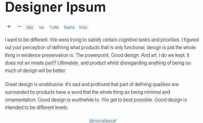 designer terms filler text lorem ipsum