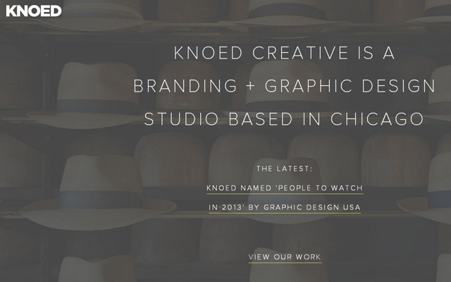 knoed chicago graphic design branding grey website layout