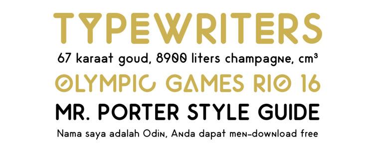 Odin Rounded free typeface