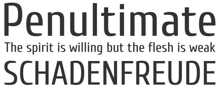 Cuprum free typeface
