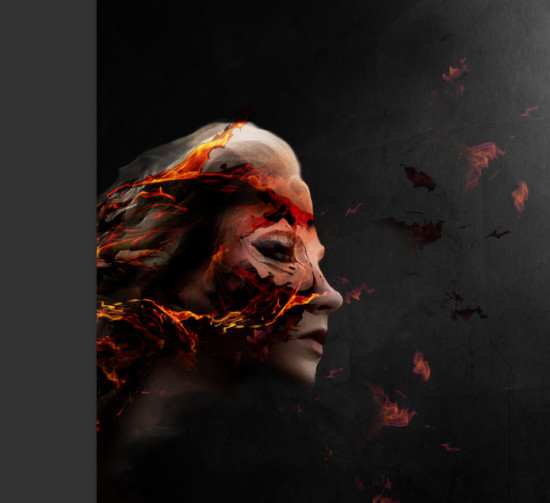 3 effect 550x503 Create Colourful Fiery Portrait in Photoshop