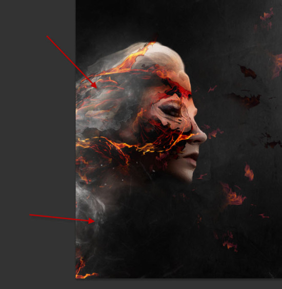 4 cloud1 550x562 Create Colourful Fiery Portrait in Photoshop