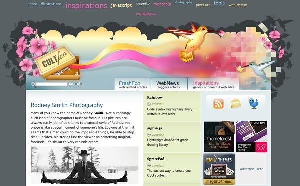 Cult Foo artistic website design
