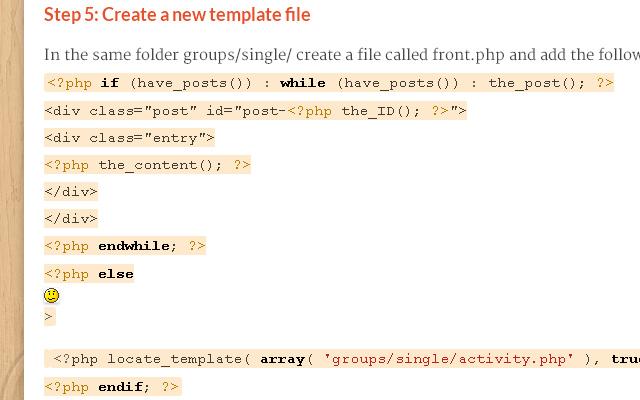 tutorial custom homepage buddypress groups