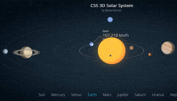 rotating planets codepen io graphics 3d effects