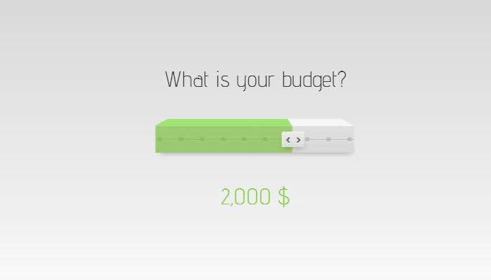 html5 input slider range 3d effect budget price