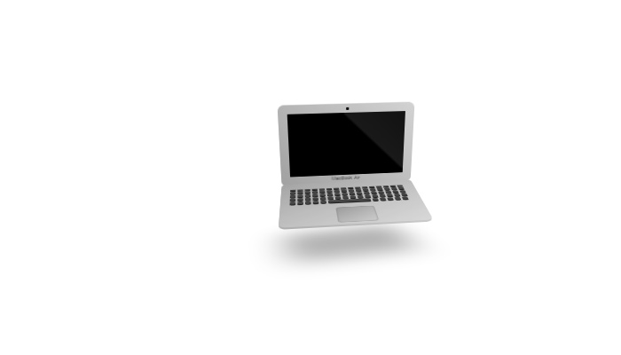 simple css 3d design macbook air laptop