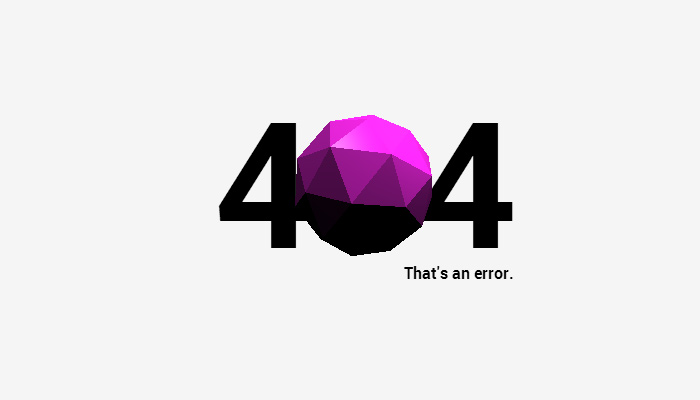 404 3d orb rotating animation effect