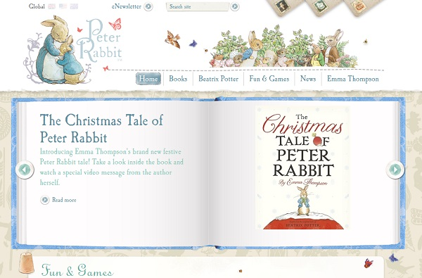 Peter Rabbit Artistic website