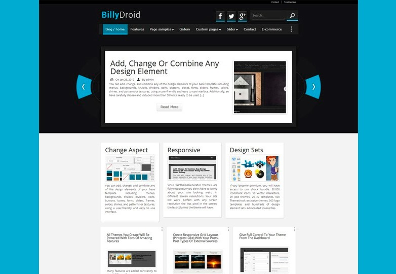 BillyDroid theme Freebies of the Month