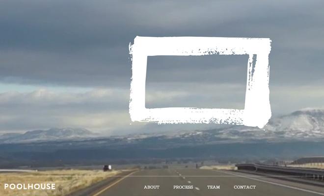 website fullscreen background layout poolhouse digital