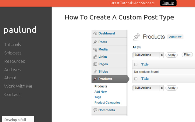 how to create wordpress cpt tutorial