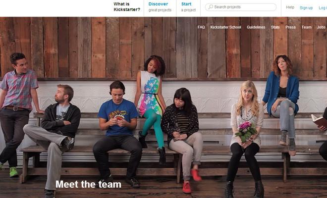 kickstarter startup team webpage video background