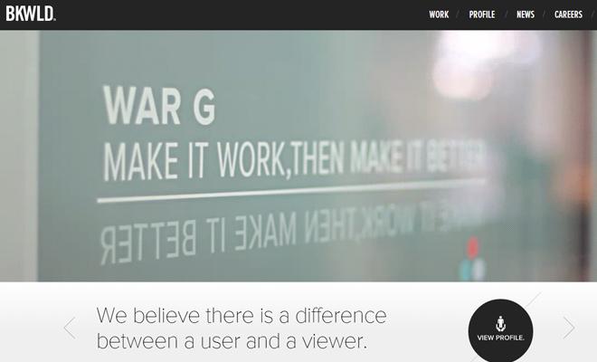 bkwld video background ui design homepage effect