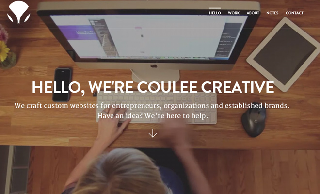 coulee creative fullscreen background videos homepage