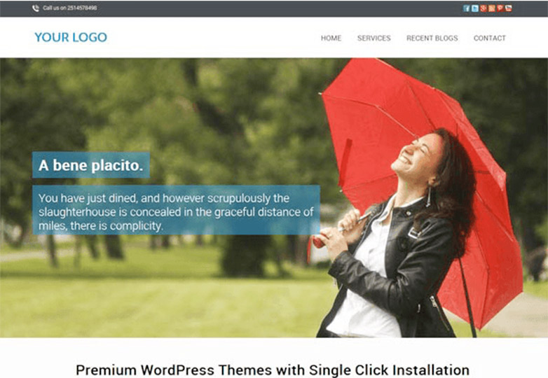 One Page free wordpress theme