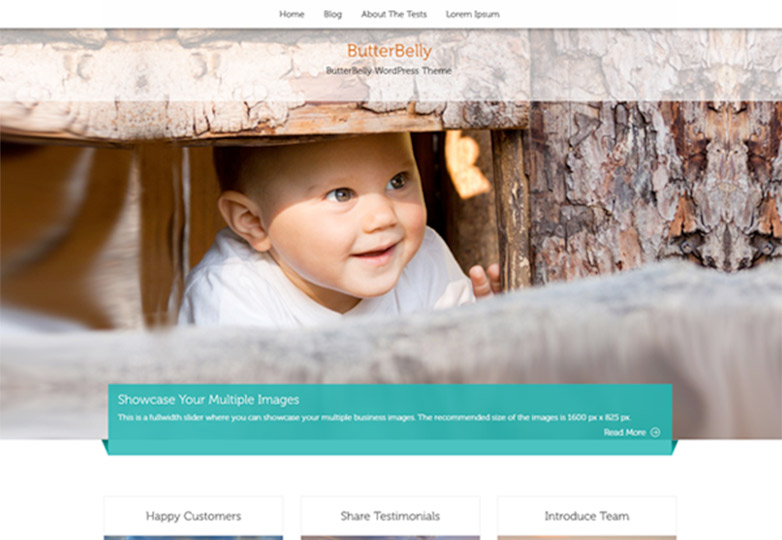 ButterBelly free wordpress theme