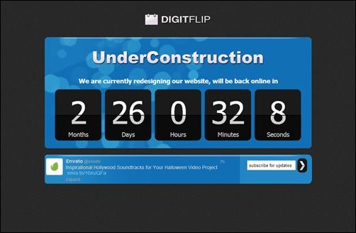 Digit Flip page design