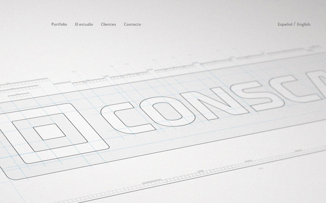 smart creative group website layout grey silver