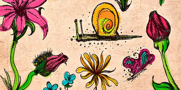 Hand Drawn Flower Brushes for Photoshop