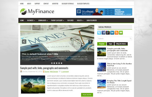 MyFinance Blogger Template
