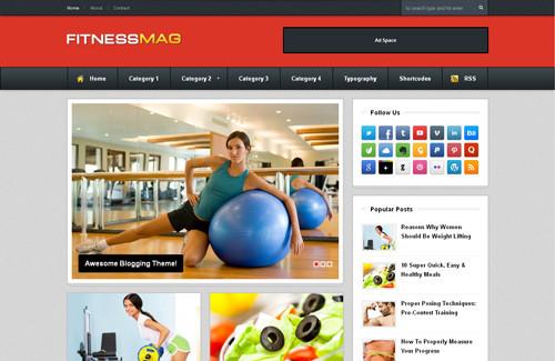 FitnessMag Blogger Template
