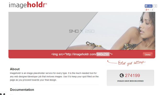 image holder images generator placeholder webapp