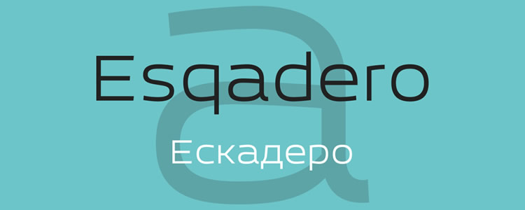 Esqadero FF CYfont designed by Sergiy Tkachenko free typeface