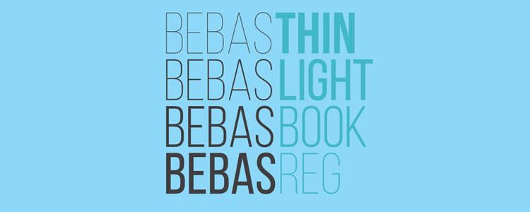 Bebas Neuefont designed by Ryoichi Tsunekawa free typeface