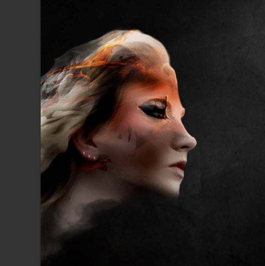 3 paste Create Colourful Fiery Portrait in Photoshop