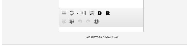 tinymce textfield editor buttons custom wordpress