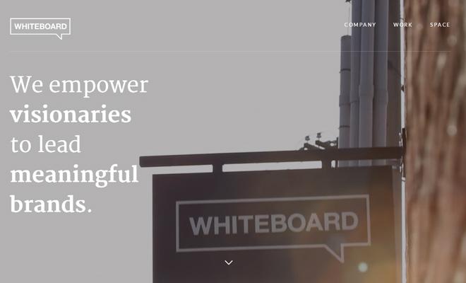 whiteboard is background fullscreen video webdesign