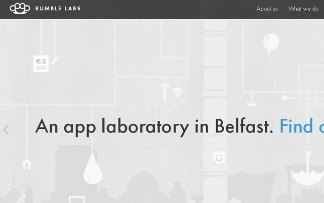 grey rumble labs website layout inspiring design