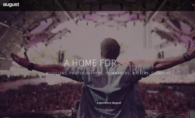 august beta website artists musicians creatives