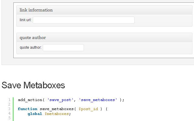 custom display metaboxes based on post format tutorial