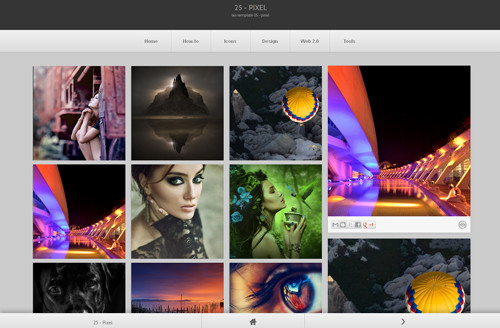 25-Pixel Blogger Template
