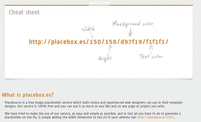 placeboxes image generator simple webapp
