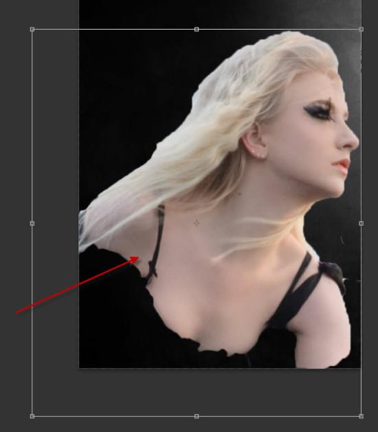 2 model sel 550x628 Create Colourful Fiery Portrait in Photoshop