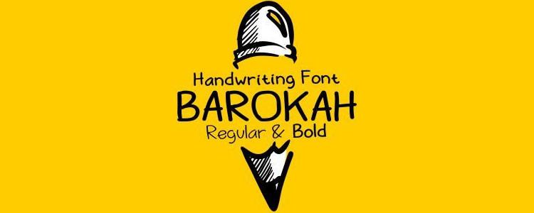 Barokahfont designed by Seruput Studio free typeface