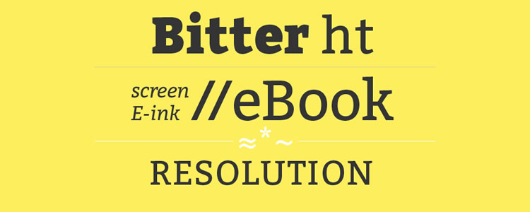 Bitterfont designed by Huerta Tipografica free typeface