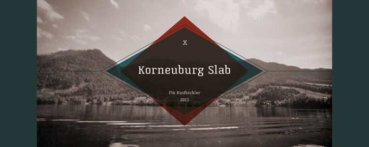 Korneuburg Slabfont designed by Flö Rastbichler free typeface