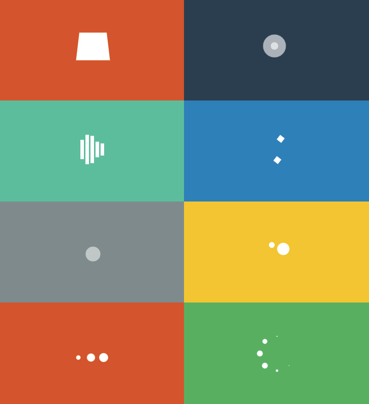 Simple Loading Spinners Animated with CSS3