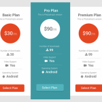 50+ Pricing Table UI Element PSD Templates