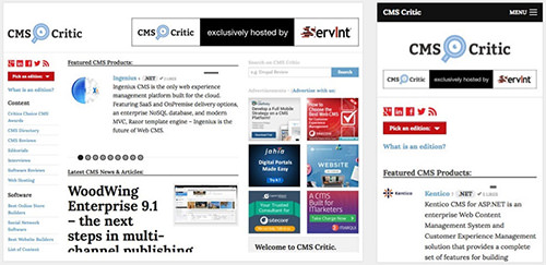 CMS Critic, a website that reviews content management systems, was built with Foundation.